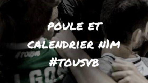 Composition de la poule et calendrier des matchs #tousvb